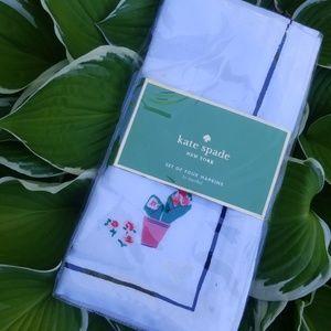 Kate Spade roses set of 4 napkins